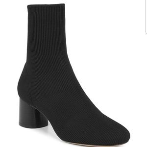 Vince Tasha Sock Knit Boots Bootie Black 6.5